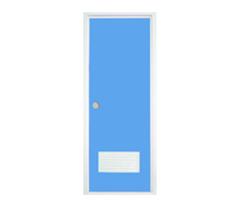 =POLYWOOD Pintu PVC - Biru + Kunci