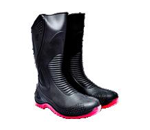 =Sepatu Boot 43 Hitam Merah