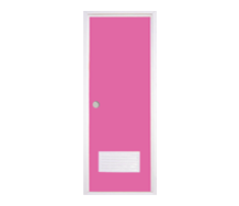 =POLYWOOD Pintu PVC - Pink + Kunci